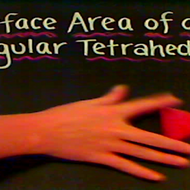 Surface Area of a Tetrahedron