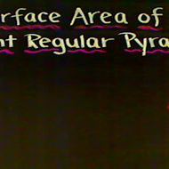 Surface Area of a Pyramid