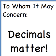 Thursday, August 27 at home - Decimals Expanded Notation