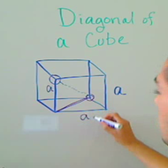 Diagonal of a Cube