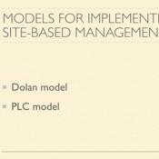 Models for Implementing Site-Based Management
