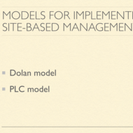 Models for Implementing Site-Based Management