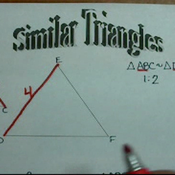Determining Side Lengths in Similar Triangles