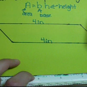 Determining Base or Height of a Parallelogram