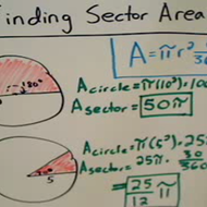 Determining the Area of a Sector