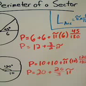 Determining the Perimeter of a Sector