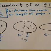 Determining the Eccentricity of an Ellipse