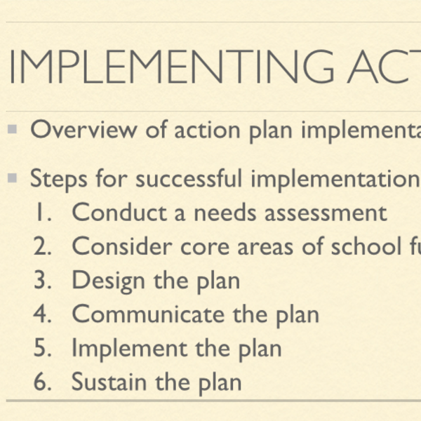 Implementing Action Plans
