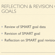 Reflection and Revision of SMART Goals