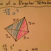 Solving for the Volume of a Regular Tetrahedron