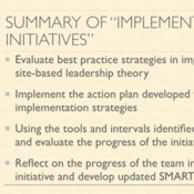 "Summary of ""Implement Site-Based Initiatives"""