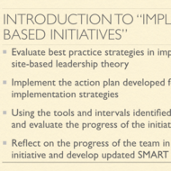 "Introduction to ""Implement Site-Based Initiatives"""