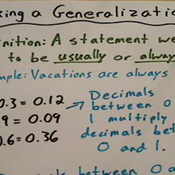 Making a Generalization