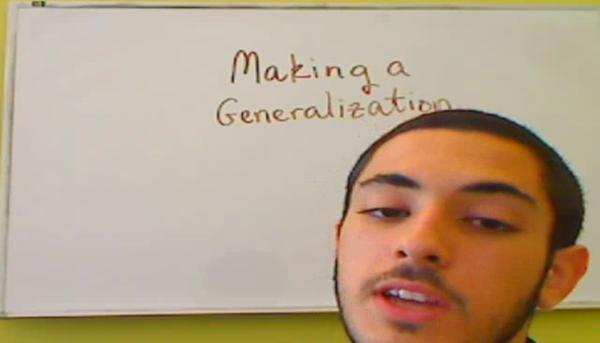 Making a Generalization