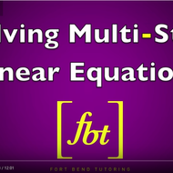 Fort Bend Tutoring - Solving Linear Equations