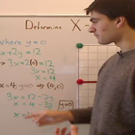 Finding the X Intercept from an Equation