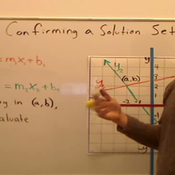 Confirming a Graphed  Solution Set