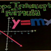 Slope Intercept Formula