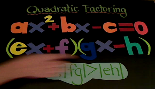 Factoring Negative C