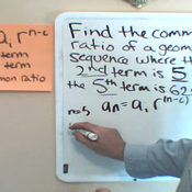Finding the Common Ratio