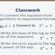 Logarithmic to Exponential Form