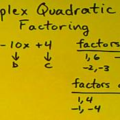 Factoring Quadratics with Coefficients