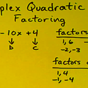 Factoring Quadratics with Coefficients