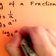 Taking the Log of a Fraction