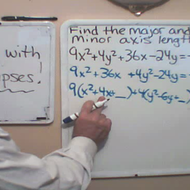 Determining the Major and Minor Axes of an Ellipse