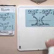 Vertical and Horizontal Hyperbolas