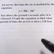 Word Problems with Graphs of Quadratic Functions