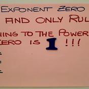 The Exponent Zero