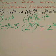 Power Rule with Fractional Exponents