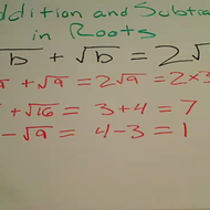 Addition and Subtraction in Roots