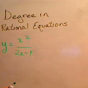 Degree in Rational Equations