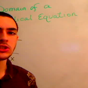The Domain of a Root Equation