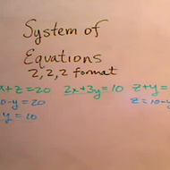 Solving Three Variable Systems Chain