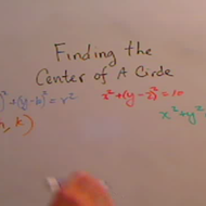 Calculating the Center of a Circle