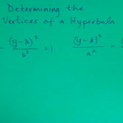 Determining the Vertices of a Hyperbola