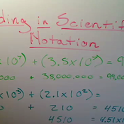 Adding with Scientific Notation
