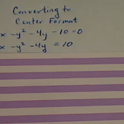 Converting the Equation of a Hyperbola
