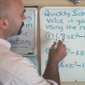 Subtracting with Scientific Notation