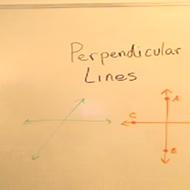 Perpendicular Lines