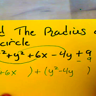 Calculating the Radius of a Circle