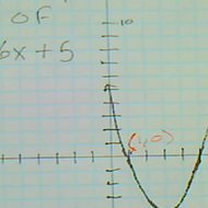 Identifying the X Intercepts of a Parabola