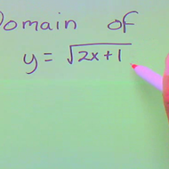 Finding the Domain of a Root Equation