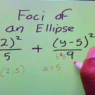 Determining the Foci of an Ellipse