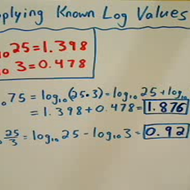 Applying Known Log Values