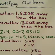 Identifying Outliers for a Box Plot