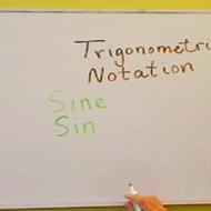Trigonometic Notation